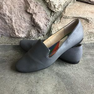 Katy Perry Gray Shimmer Flats Loafers